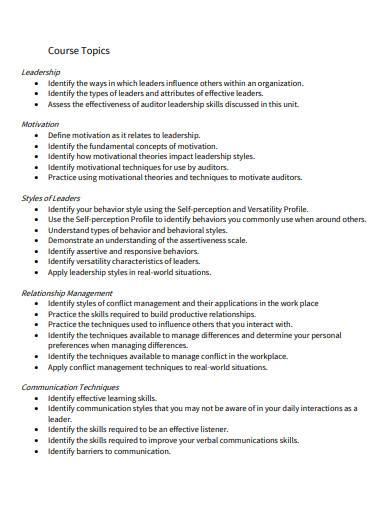 leadership skills for auditors template
