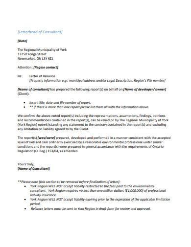 letterhead of consultant