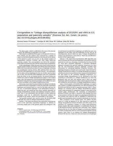 linkage disequilibrium analysis sample
