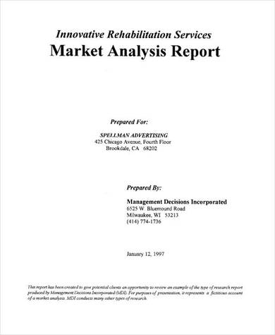 market analysis report sample in pdf
