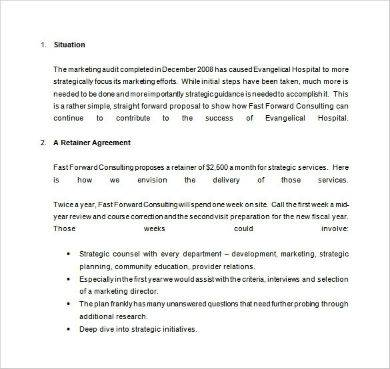 marketing consulting proposal sample in doc