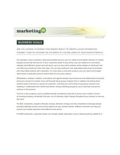 marketing distribution channel template