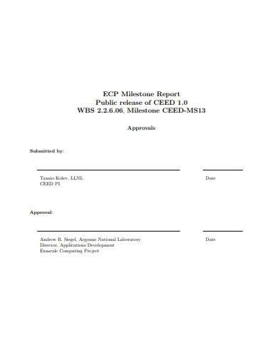milestone report in pdf