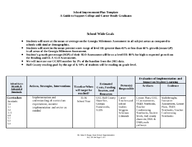 Free 7 School Implementation Plan Templates In Pdf Ms Word
