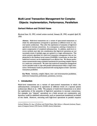 multi level transaction management sample