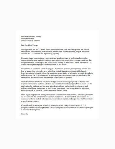 multi society immigration letter sample
