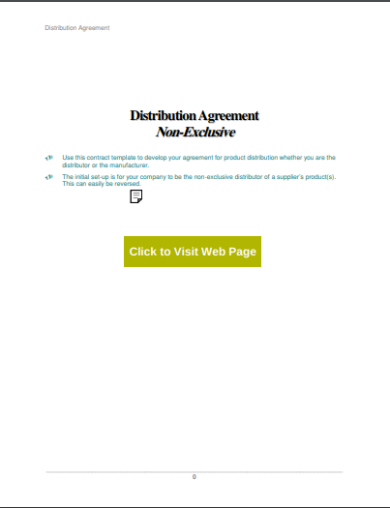 non exclusive distribution agreement template