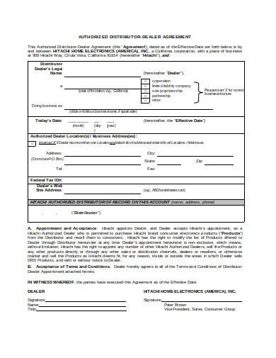 non exclusive distribution agreement in doc