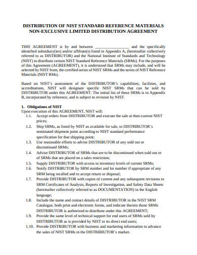 non exclusive limited distribution agreement