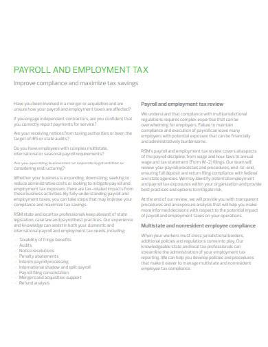 payroll and employment tax