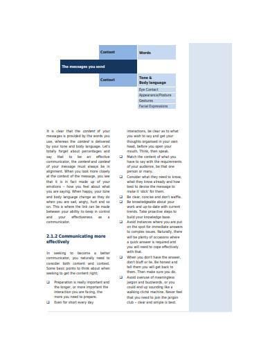 personal leadership skills template