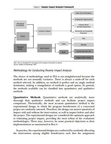 poverty impact analysis example