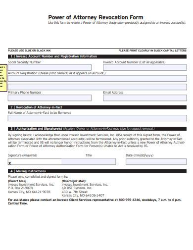 power of attorney revocation form
