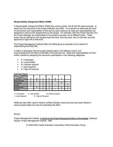 printable responsibility assignment matrix