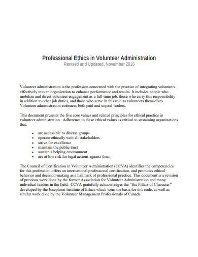 professional ethics in volunteer administration