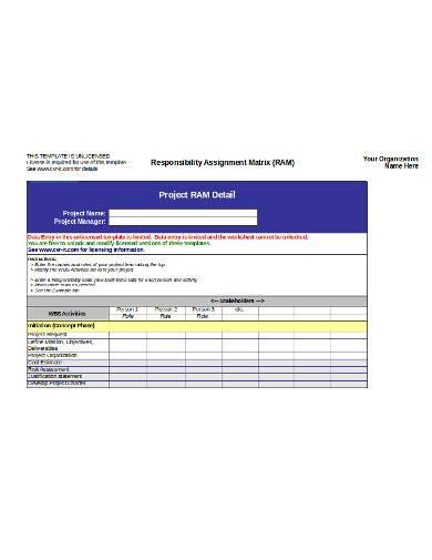 project responsibility assignment matrix