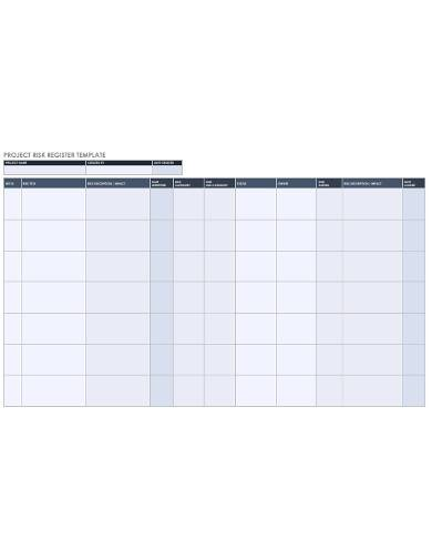 project risk register template1