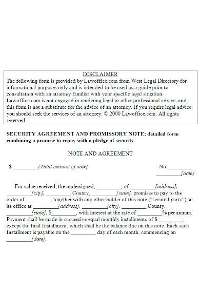 promissory note agreement in ms word