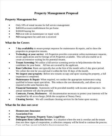 property management proposal sample in pdf