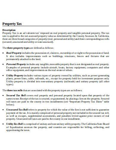 property tax in doc