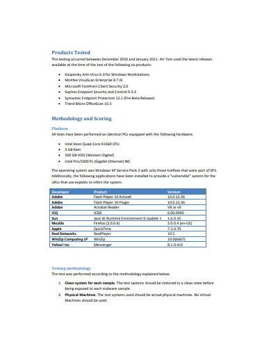 real world testing report template