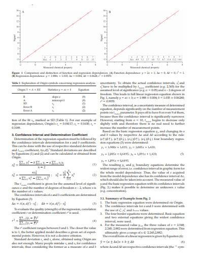 regression analysis in analytical chemistry