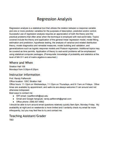 regression analysis in pdf