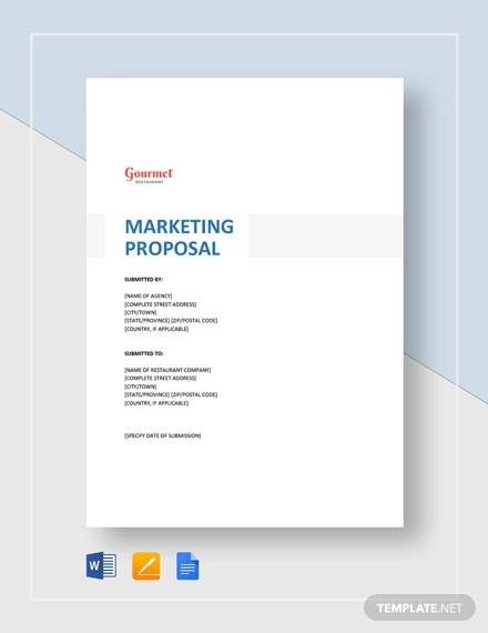 restaurant marketing proposal template1