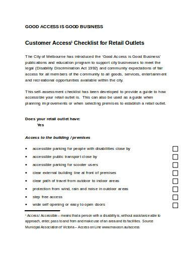 retail business checklist in doc