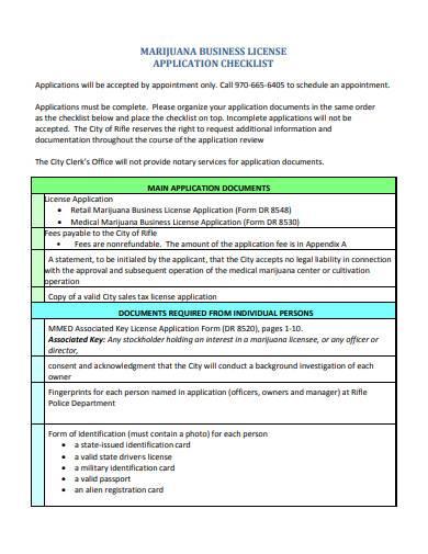 retail business license application checklist