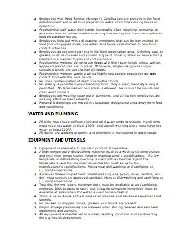 retail cleaning checklist in doc