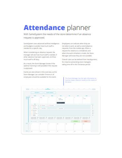 retail daily planner example