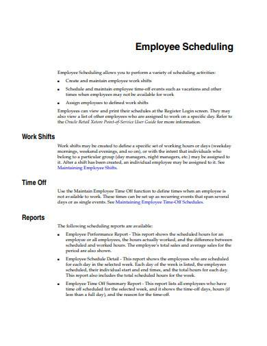 retail employee scheduling