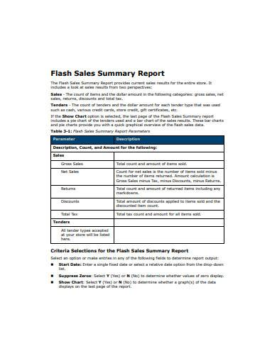 retail end of day report template