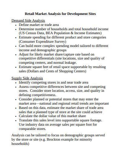 retail market analysis for development sites