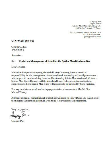 retail notice letter