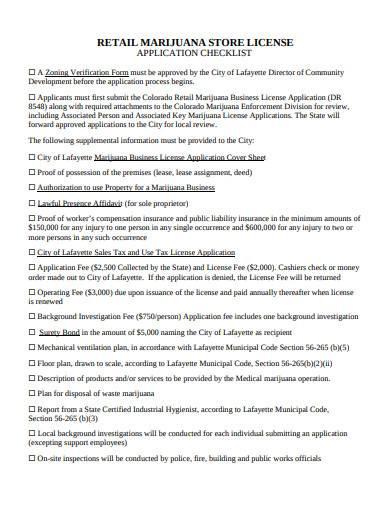 retail store license checklist