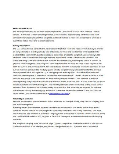 retail trade report template