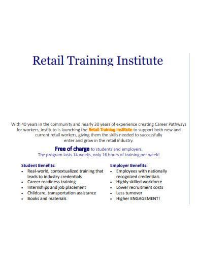 retail training institute program