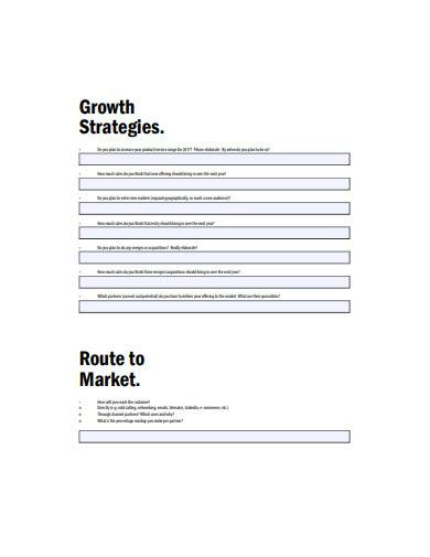sales growth strategy sample