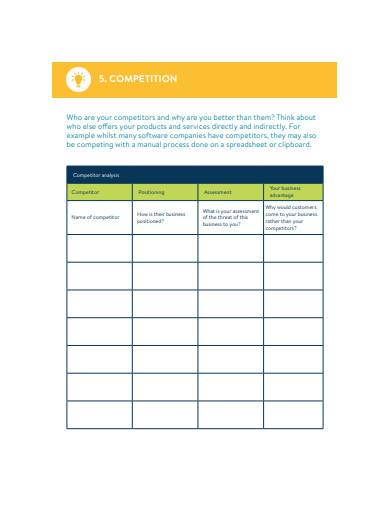 sales plan and sales strategy template
