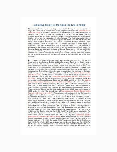 sales tax law in kerala template
