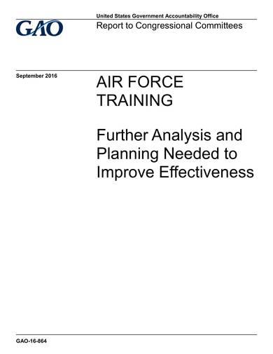 sample air force training analysis