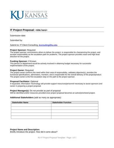 sample blank it project proposal