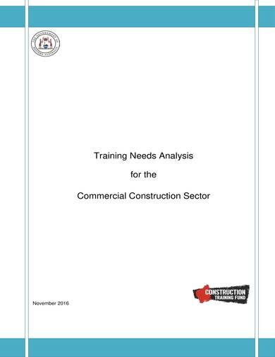 sample commercial construction sector training needs analysis