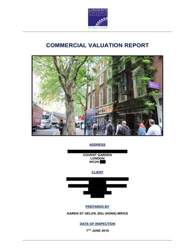 sample commercial valuation report