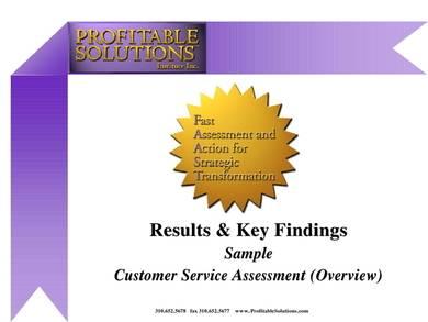 sample customer assessment overview report