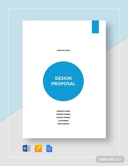 sample design proposal template