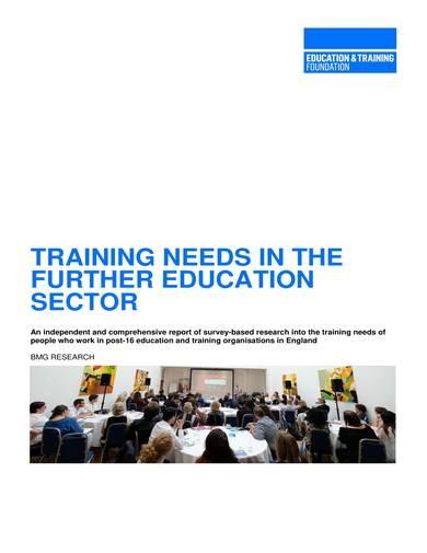 sample educational training needs analysis