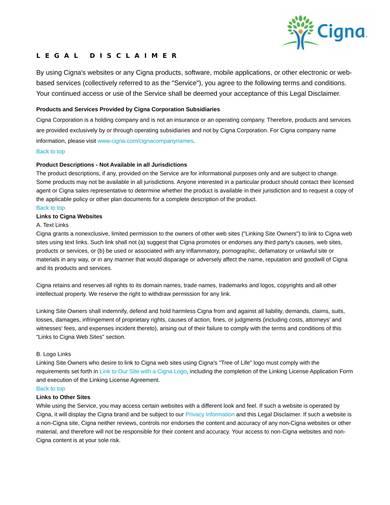 sample healthcare legal disclaimer